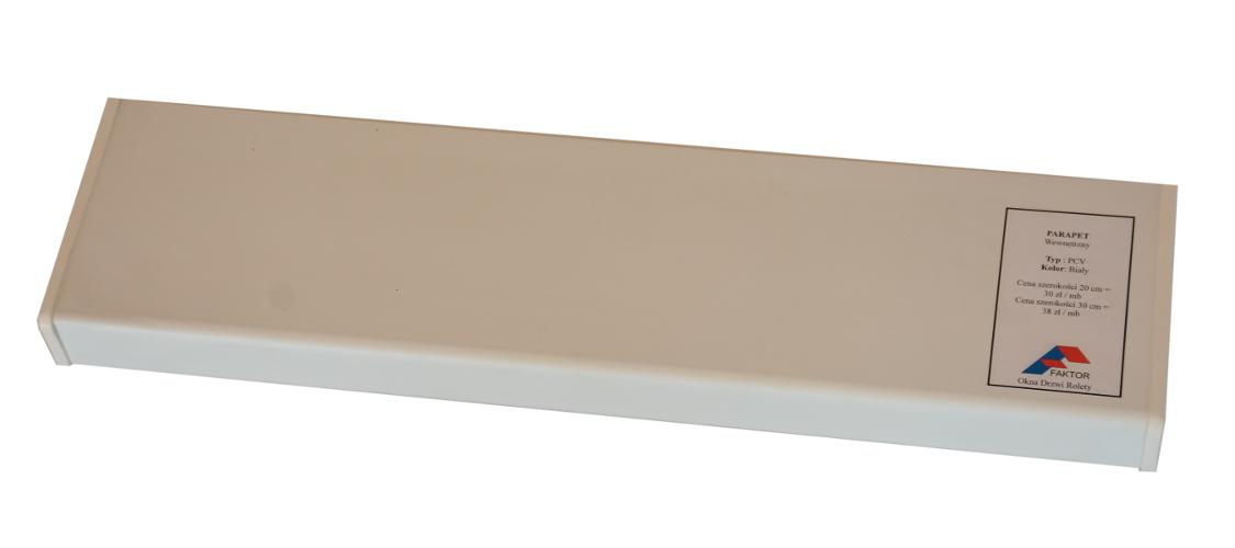 Parapet wewnętrzny wewnętrzny komorowy PCV VOX okleina renolit biała