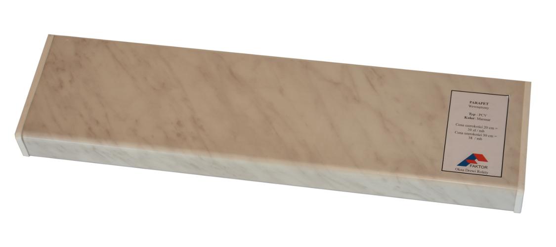 Parapet wewnętrzny komorowy PCV VOX okleina renolit marmur