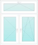 Okno PCV trzyskrzydłowe - rozwiernouchylne, rozwierne, uchylne. Stare budownictwo