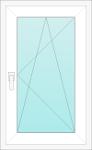 Okno PCV jednoskrzydłowe - rozwiernouchylne