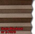 Scala blackout 08 - kolorystyka materiału grupy 2 żaluzji plisowanej