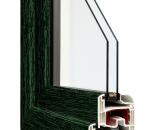Zielony-Gealan - wzór koloru  okna