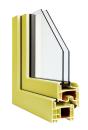 Okna Veka okleina w kolorze żółtym