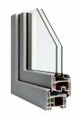 Okna Veka - okleina w kolorze aluminium szczotkowane srebrne
