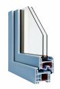 Okna Veka okleina w kolorze brylantowoniebieskim