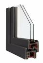 Okna Veka okleina w kolorze ciemnoszary jedwab