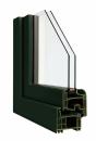 Okna Veka okleina w kolorze ciemnozielonym
