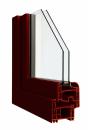 Okna Veka okleina w kolorze czarnobrązowym