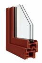 Okna Veka okleina w kolorze czerwonobrązowym
