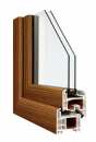 Okna Veka okleina w kolorze daglezja