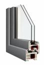 Okna Veka okleina w kolorze jasnoszarym