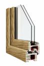 Okna Veka okleina w kolorze jasny dąb
