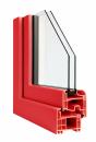 Okna Veka okleina w kolorze karminowo-czerwonym