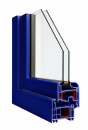 Okna Veka okleina w kolorze kobaltowoniebieskim