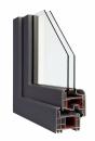 Okna Veka okleina w kolorze łupkowoszarym gładkim
