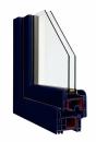 Okna Veka okleina w kolorze monumentalnym niebieskim