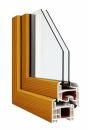 Okna Veka okleina w kolorze oregon