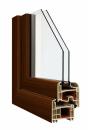 Okna Veka okleina w kolorze palisander