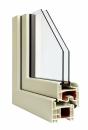 Okna Veka okleina w kolorze papirusowobiałym