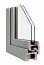 Okna Veka okleina w kolorze srebrnoszarym