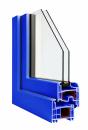 Okna Veka okleina w kolorze ultramarynowoniebieskim