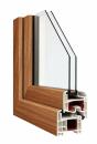 Okna Veka okleina w kolorze winchester