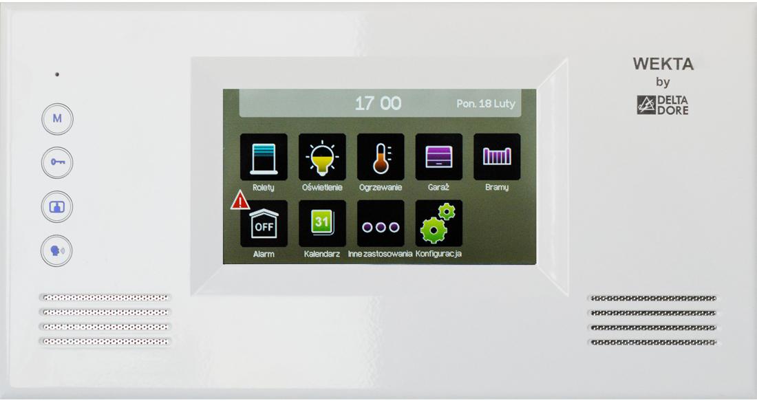 Ekran dotykowy Wekta Tydom - sterowanie radiowe elementami systemów inteligentnych domów - montaż, sprzedaż i serwis Faktor Bydgoszcz