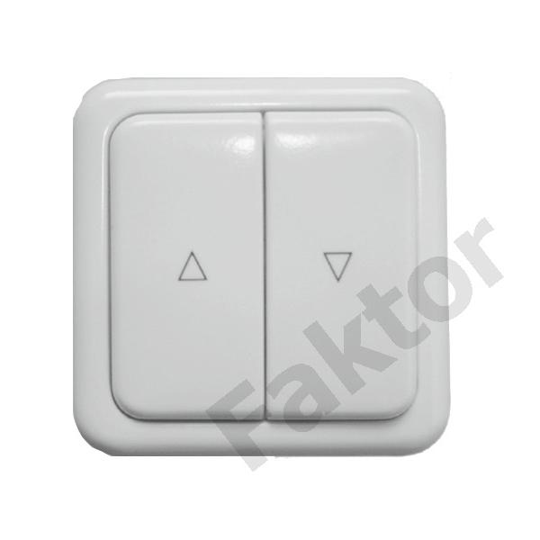 FPKL303 - przełącznik klawiszowy podtynkowy  – przewodowe sterowanie roletami zewnętrznymi elektrycznymi  – sprzedaż montaż i serwis Faktor Bydgoszcz