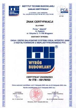 certyfikat - znak certyfikacji dla firmy - faktor bydgoszcz