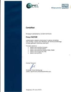certyfikat-domel